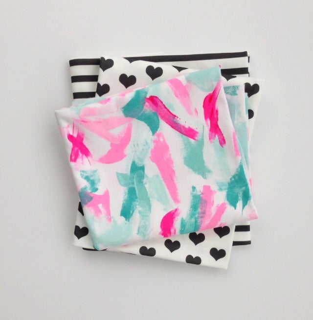 Image of ORganic cotton Hand painted One of a kind blanket