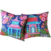 Image of Chinoiserie Garden Pink Pillow Cover - SOLD OUT