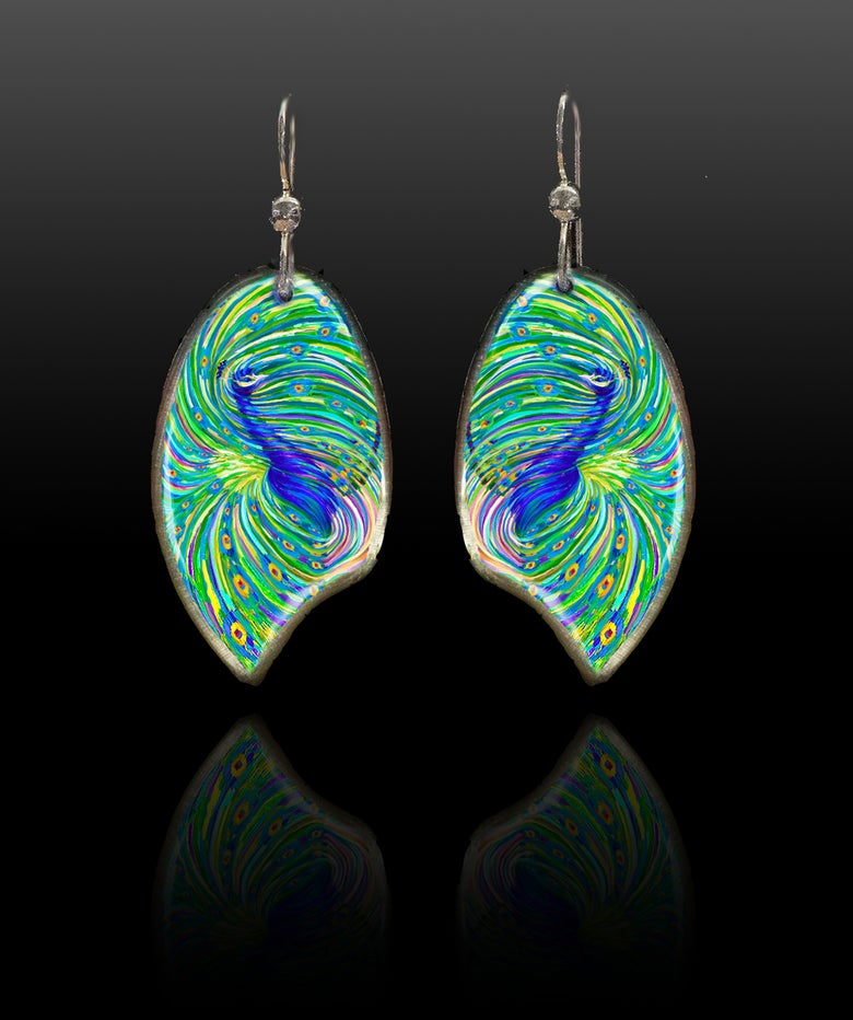 Image of Peacock Energy Earrings