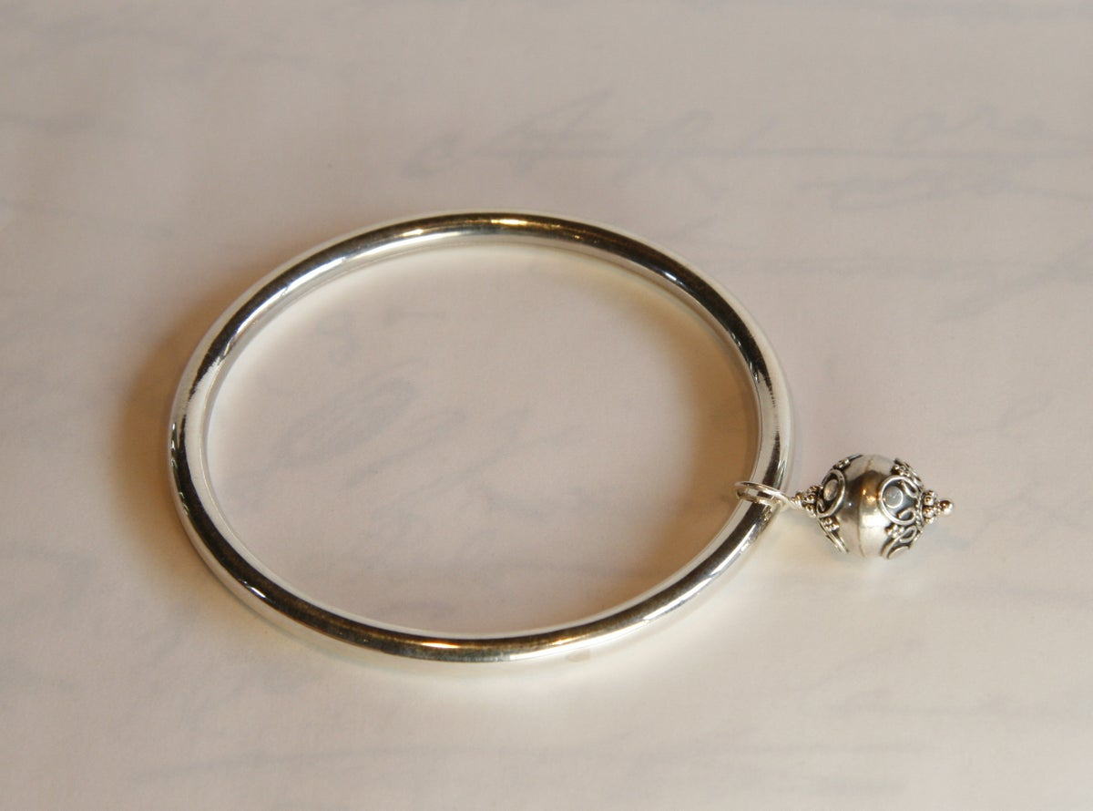 Sterling Silver Bangle with Bauble