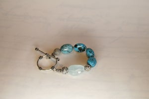 Image of Turquoise and Aquamarine Bracelet