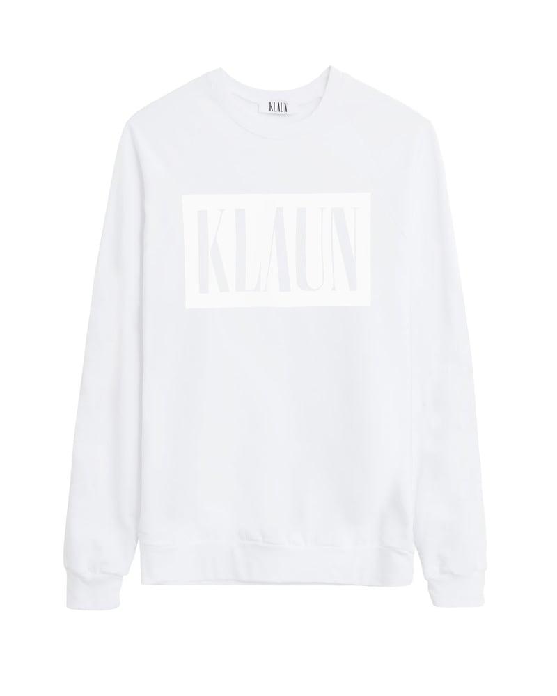 Image of Logo Sweatshirt White on White