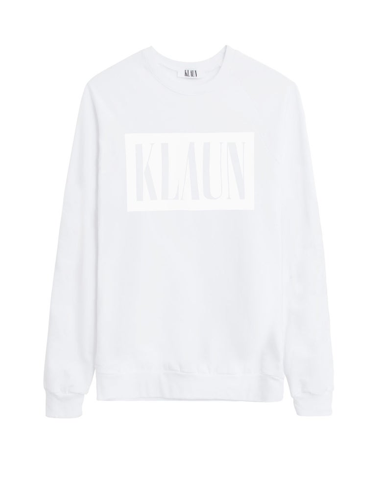 Image of Logo Sweatshirt White on White