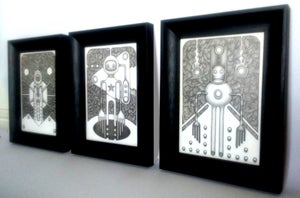 Image of Set of Three A5 Framed Originals