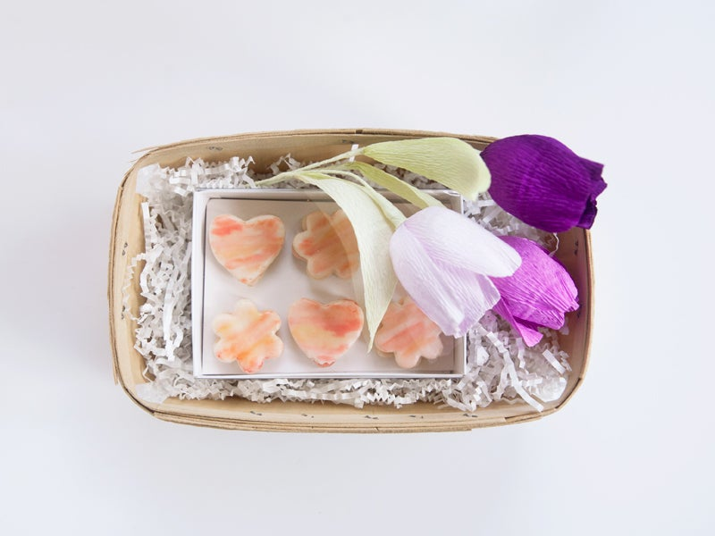 Image of Violet Tulip Trio + Orange Blossom Watercolor Cookies