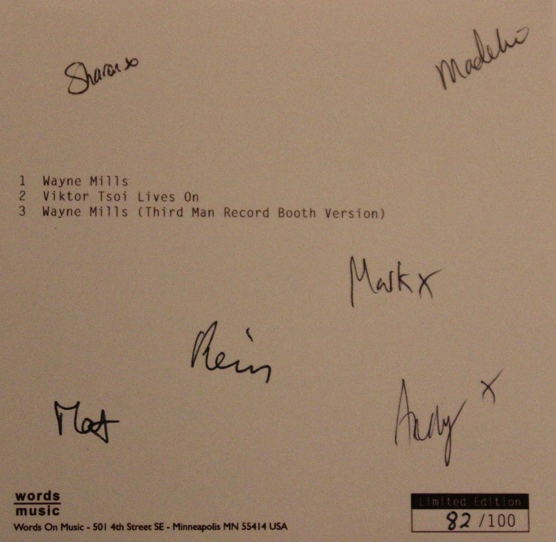 Image of Wayne Mills, limited edition signed single