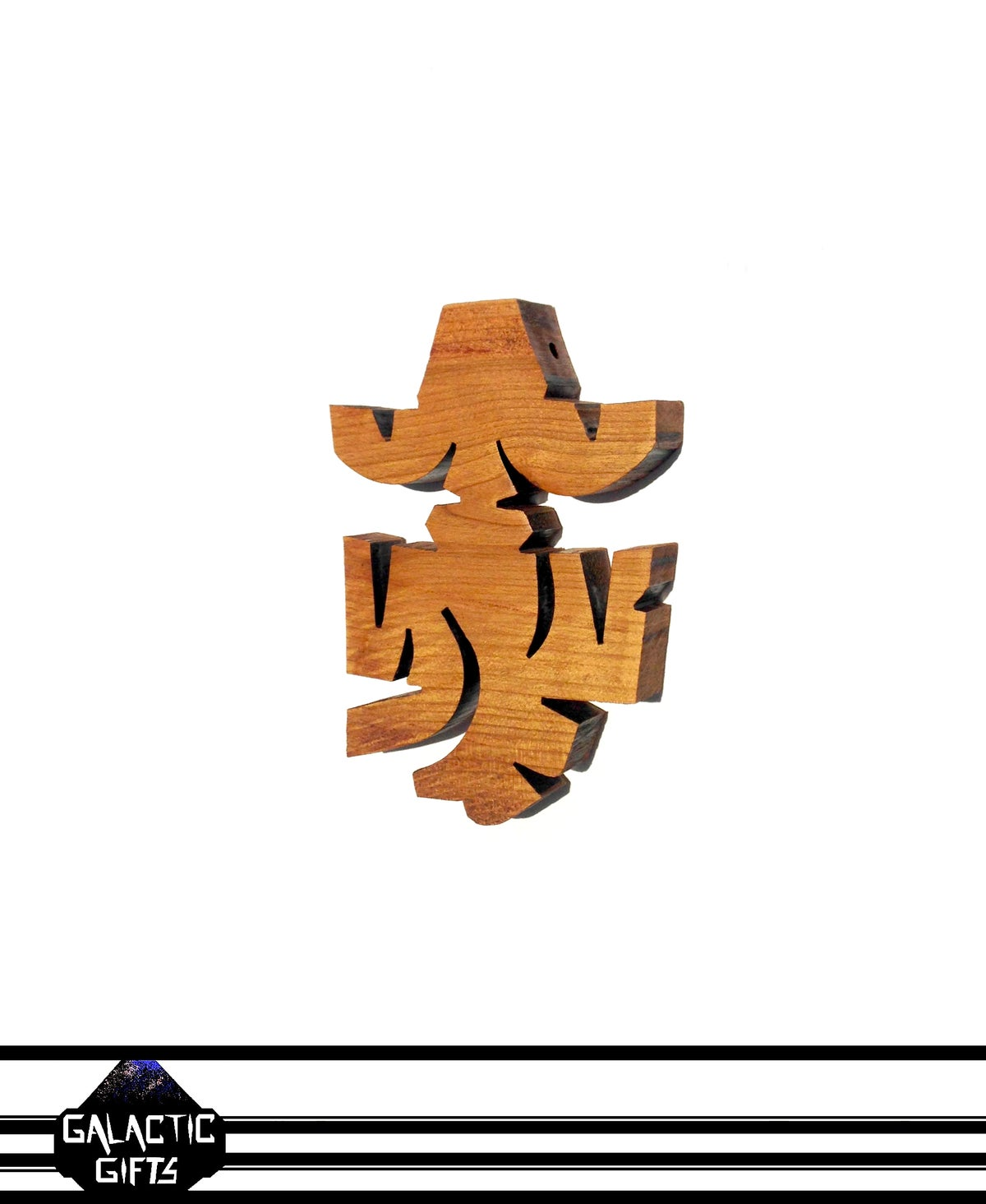 Image of Cosmic Architect Cherry Wood Tribal Medallion 1#