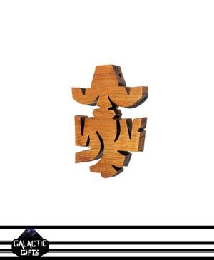 Image of Cosmic Architect Cherry Wood Tribal Medallion 1#