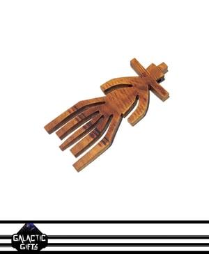 Image of Cosmic Architect Cherry Wood Tribal Medallion 2#