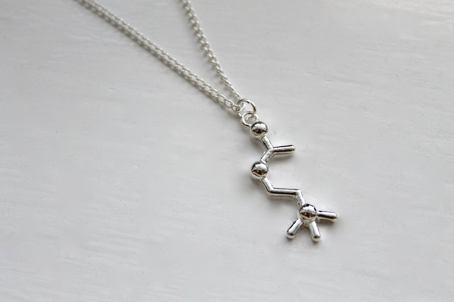 Image of Acetylcholine Molecule Necklace (Originally $32)