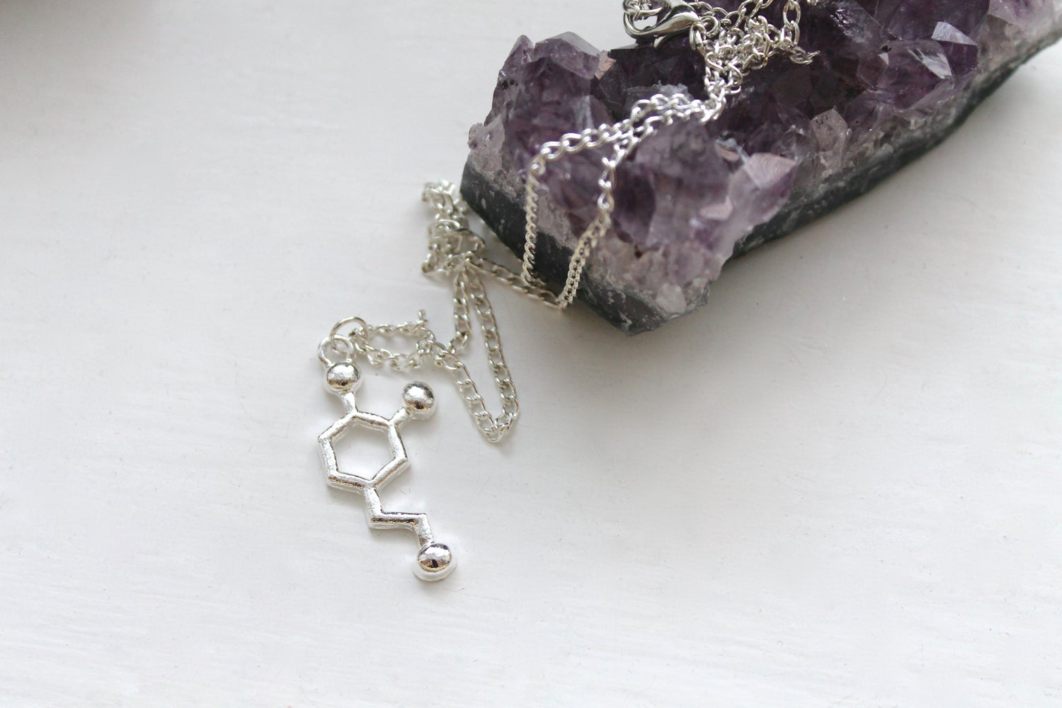 Image of Dopamine Molecule Necklace (Originally $32)