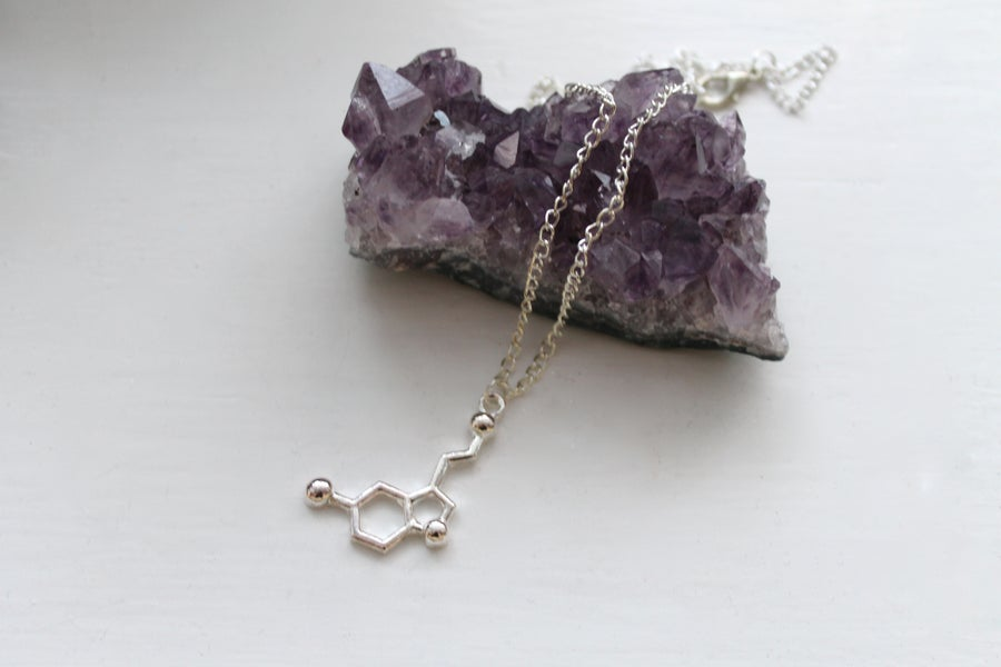 Image of Serotonin Molecule Necklace (Originally $32)