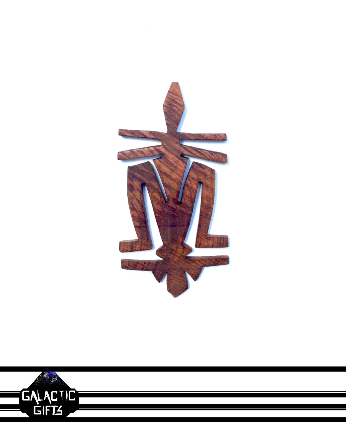 Image of Cosmic Architect Cherry Wood Tribal Medallion 5#