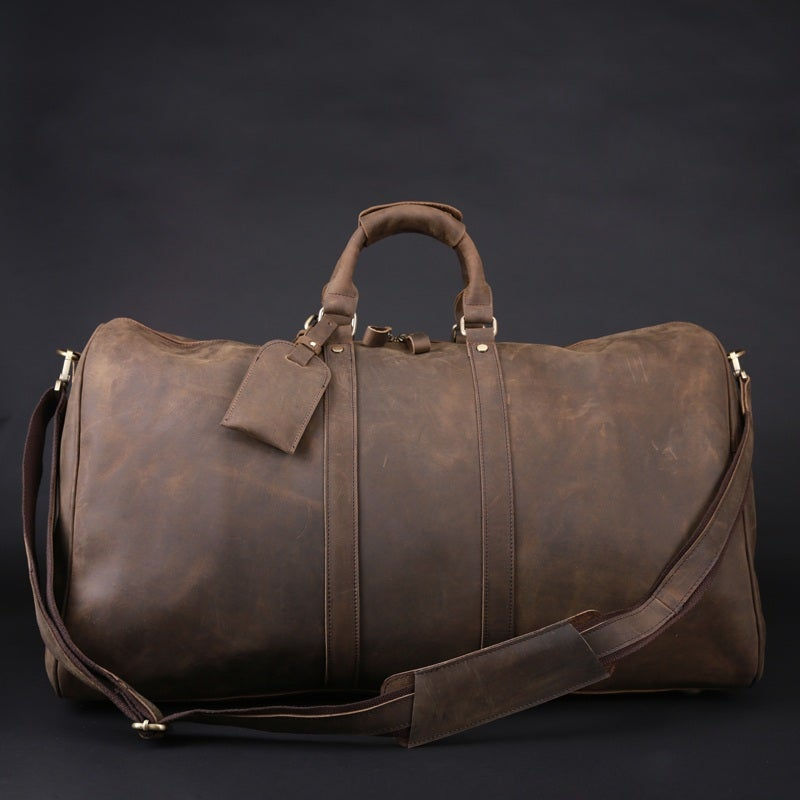 Neo handmade leather bags neo leather bags men 39 s handmade vintage leather duffle bag for Leather luggage wheeled duffel