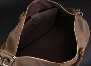 Image of Men's Handmade Vintage Leather Duffle Bag / Travel Bag / Luggage / Sport Bag / Weekend Bag #N66-3