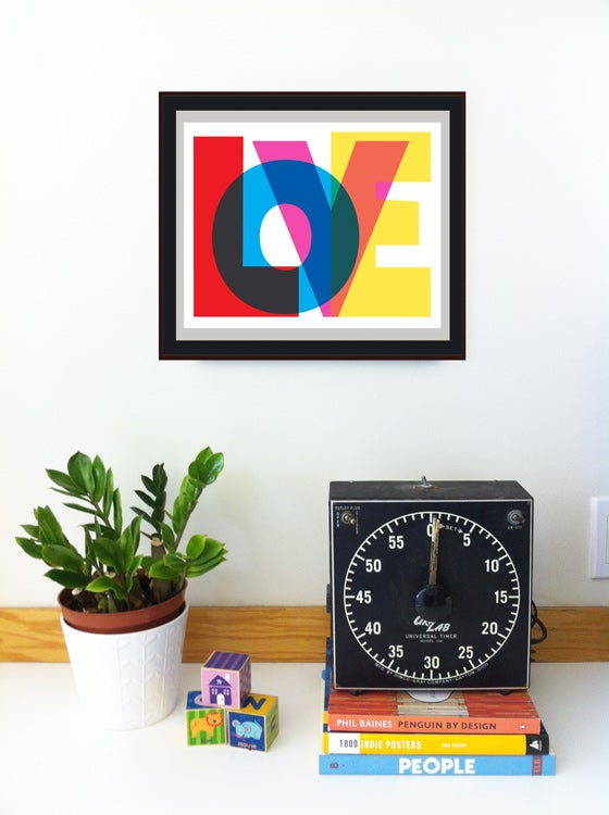 Image of LOVE Typography Print