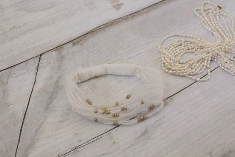 Image of White mohair headband