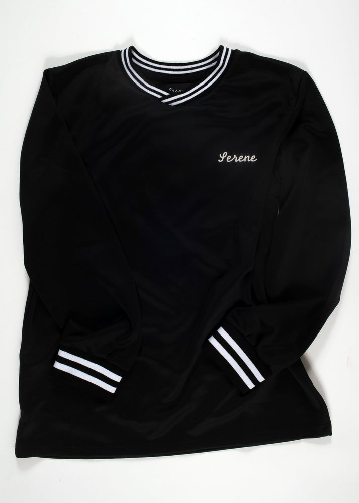 Image of Black Soccer Jersey Long Sleeve