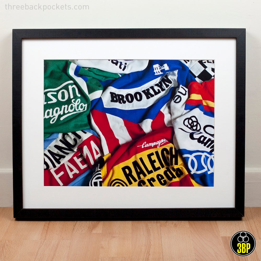 Image of Iconic cycling jerseys print