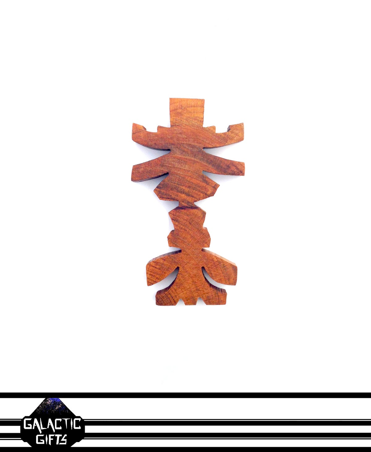 Image of Cosmic Architect Cherry Wood Tribal Medallion 7#
