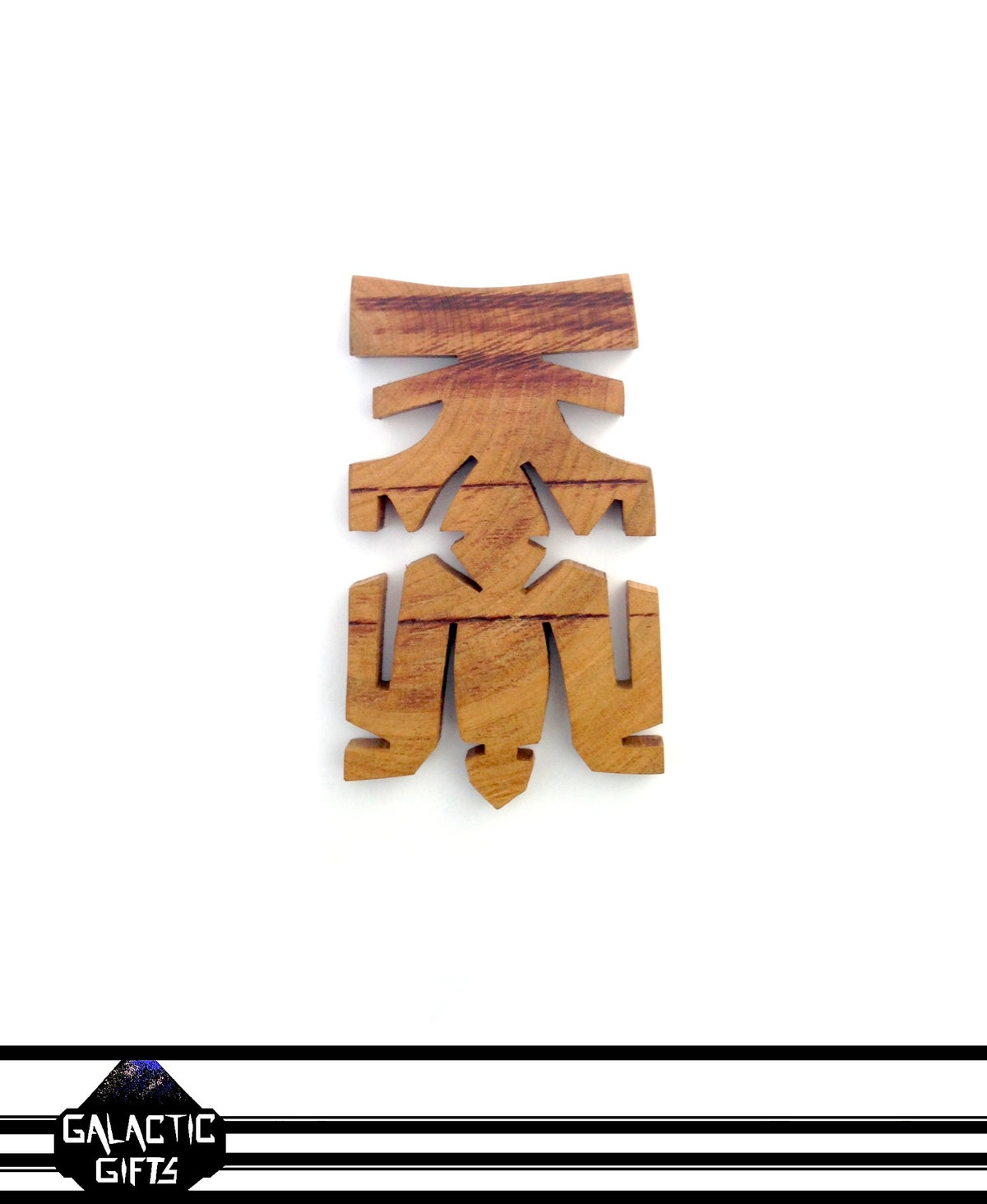 Image of Cosmic Architect Cherry Wood Tribal Medallion 11#