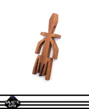 Image of Cosmic Architect Cherry Wood Tribal Medallion 12#