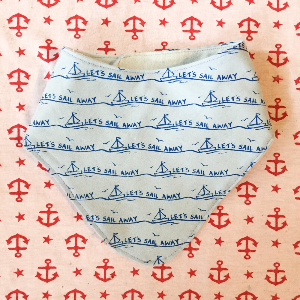 Image of Nautical neckerchief- lets sail away