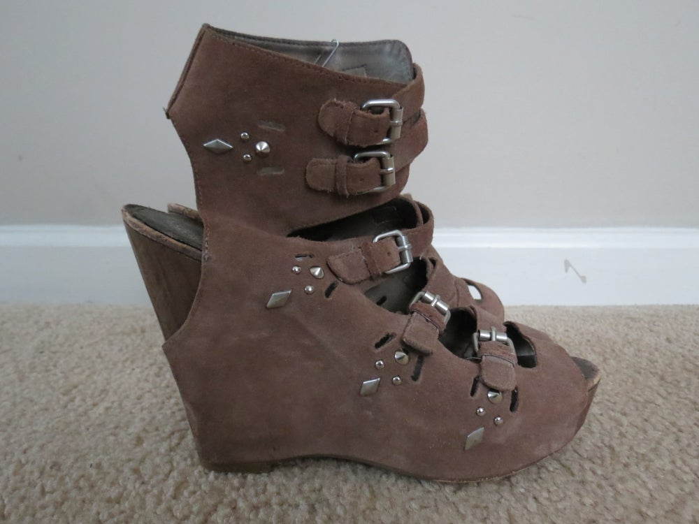 Image of Sam Edelman Suede Wedge Sandals