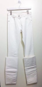 Image of Maison Martin Margiela Defile AW10 White Denim With Overturned Cuffs Size 4