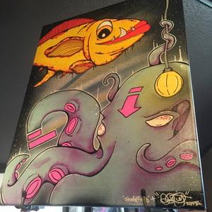 """Image of """"Darker Waters"""" original painting"""