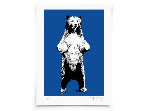 Image of Bear on paper - Screenprint