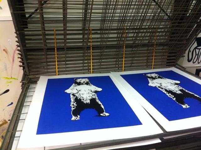 Image of Bear on paper - Screenprint
