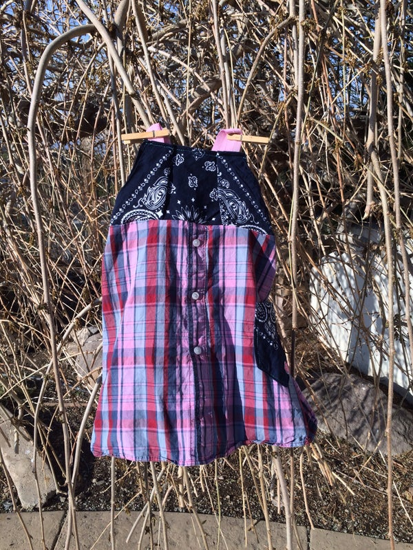Image of Plaid and Hankerchief Dress