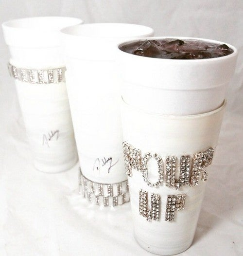 Image of Debbie the Glass Lady White Lean Cup
