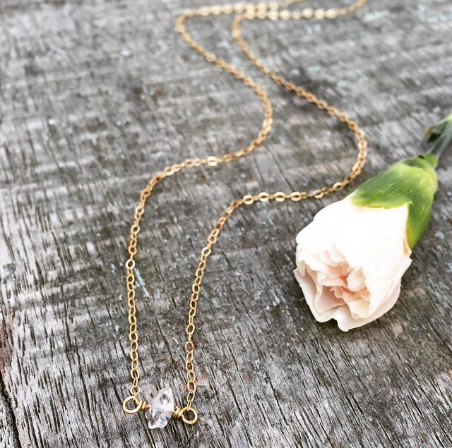 Image of Mini Herkimer diamond necklace