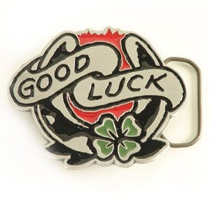 Image of Sailor Jerry Belt Buckle - Good Luck