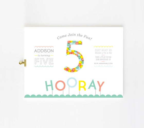 Image of Bright party custom Invitation for kids