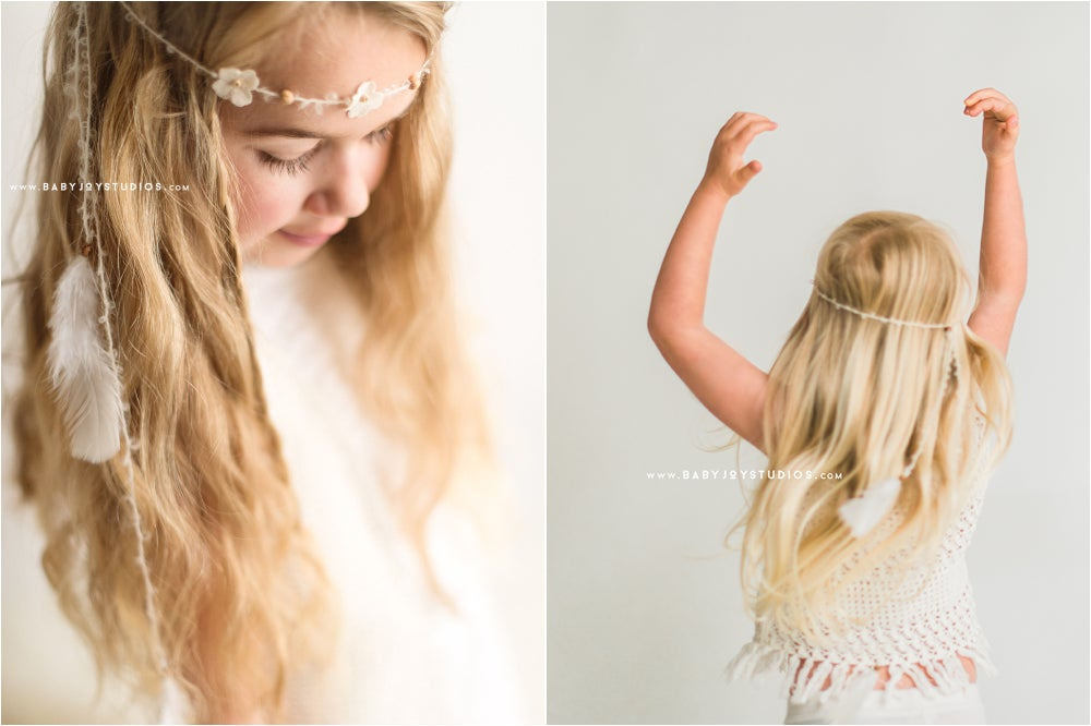 Image of NEW Boho feather and flowers headband | the Drifter