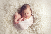 Image of {Belle} sheer newborn wrap