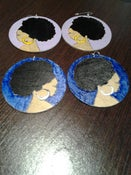 Image of afrolady puff earrings