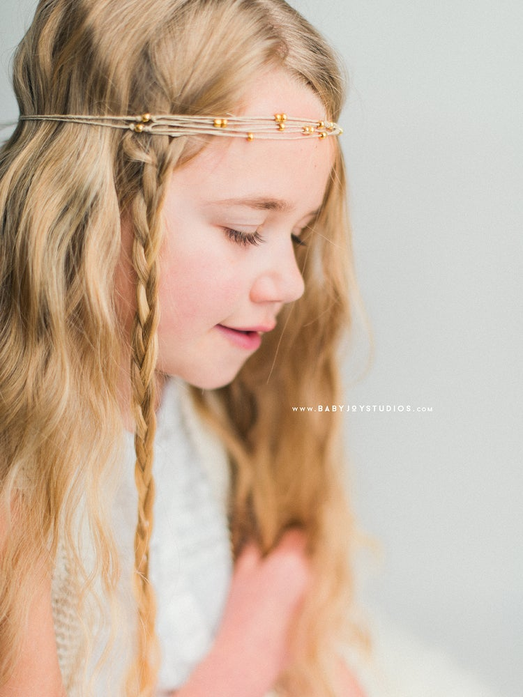 Image of NEW Boho Chic natural headband | {Clarity} hemp tieback