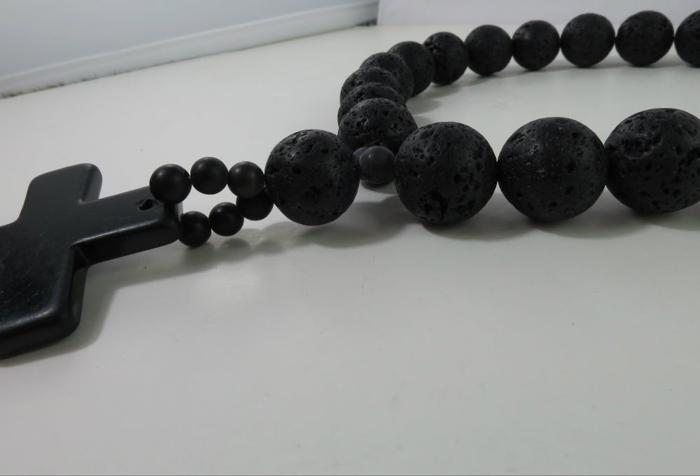 Image of N030 Larissa black necklace