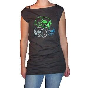Image of Neon Skulls T-Dress