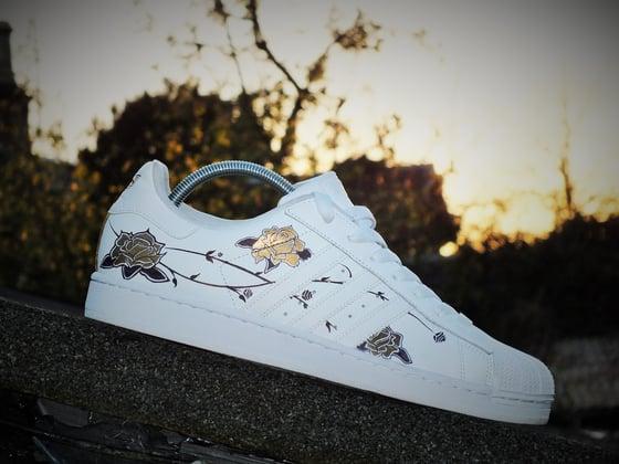 Image of Adidas Superstar 'Dark Floral'