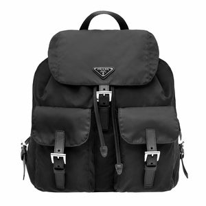 a5dbd839d7e5 Image of Prada Nero Tessuto Zainetto Black Nylon and Leather Backpack ...
