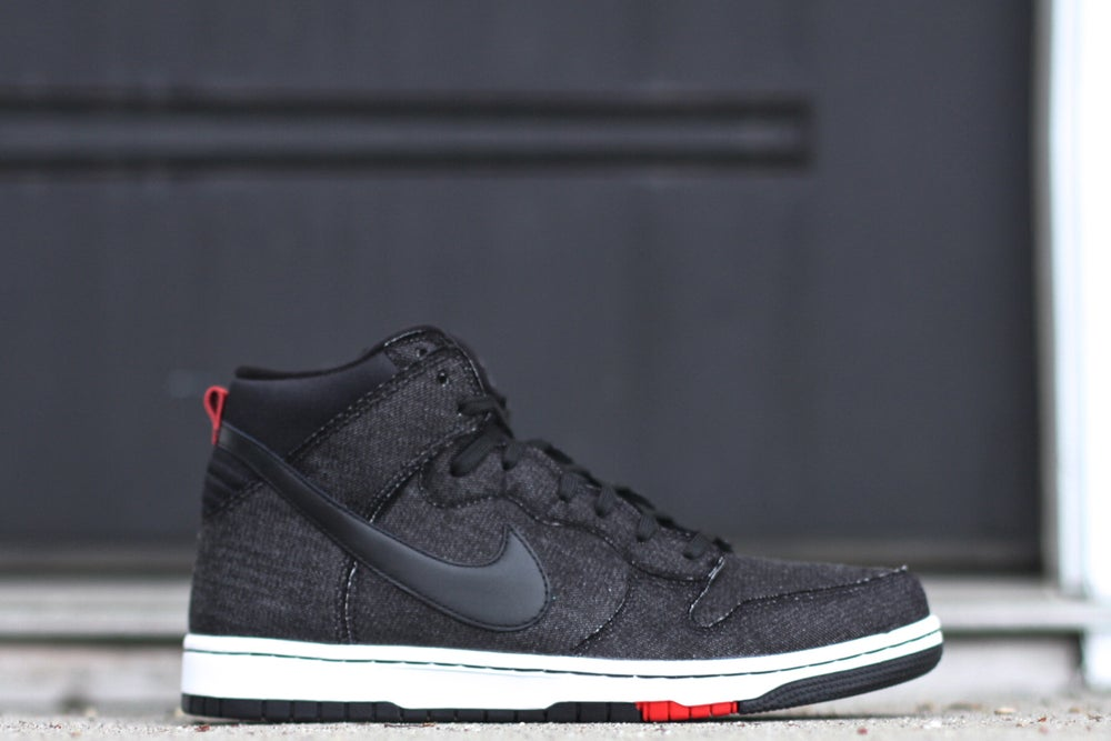 "Image of NIKE DUNK HIGH CMFT ""BLACK DENIM"""