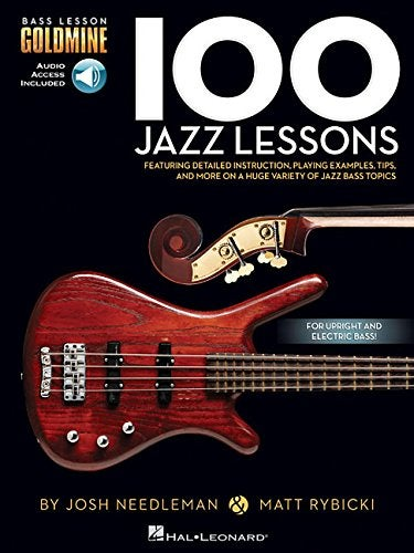 Image of 100 Jazz Lessons: Bass Goldmine Series