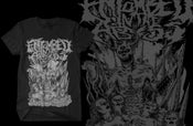 "Image of Black ""Hail"" Entombed in the Abyss Tee"