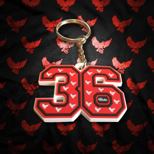 Image of 36 Keychain