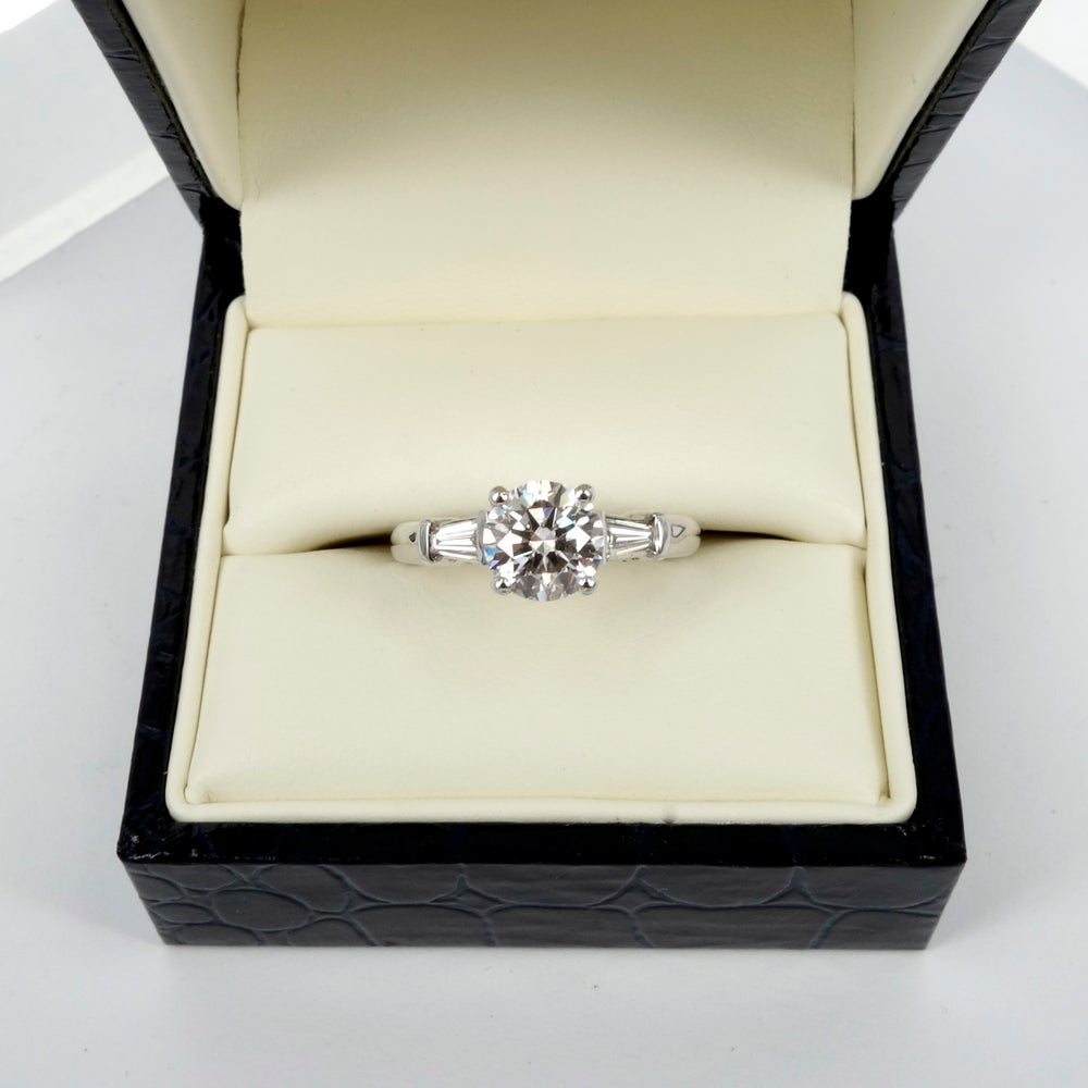 Image of 18ct white gold diamond 3 stone diamond engagement ring
